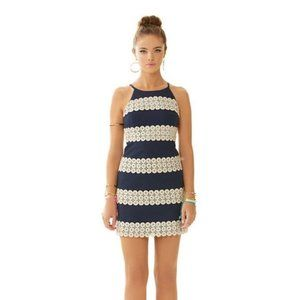 Lilly Pulitzer Annabelle Shift Dress Navy Gold 2